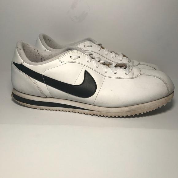 Que acantilado Decrépito  Nike Shoes | Mens Cortez White Black Sneakers Sz 11 | Poshmark